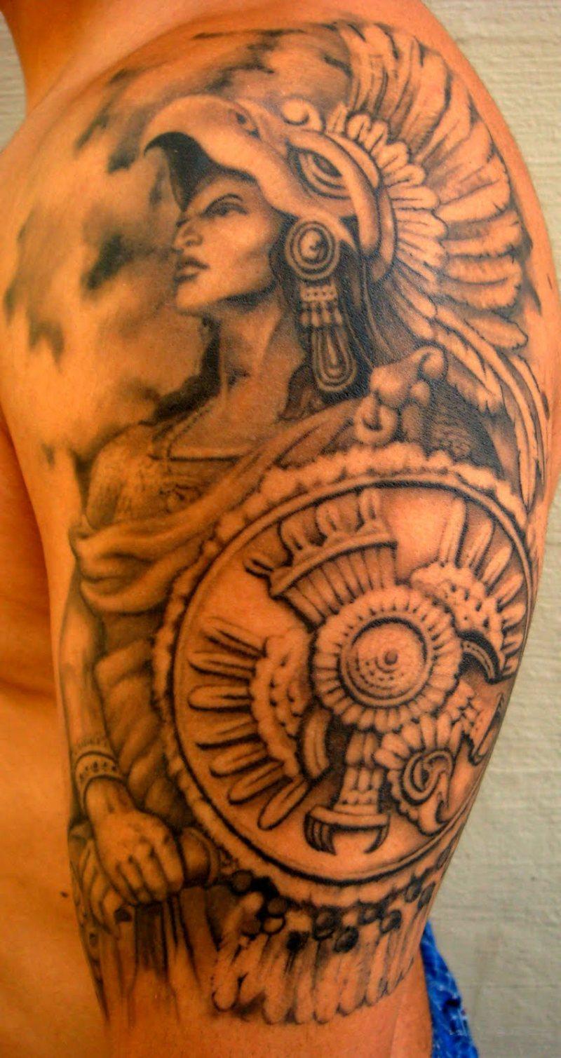 39ad82ef7 Cool aztec warrior tattoo design - Tattoos Book - 65.000 Tattoos Designs