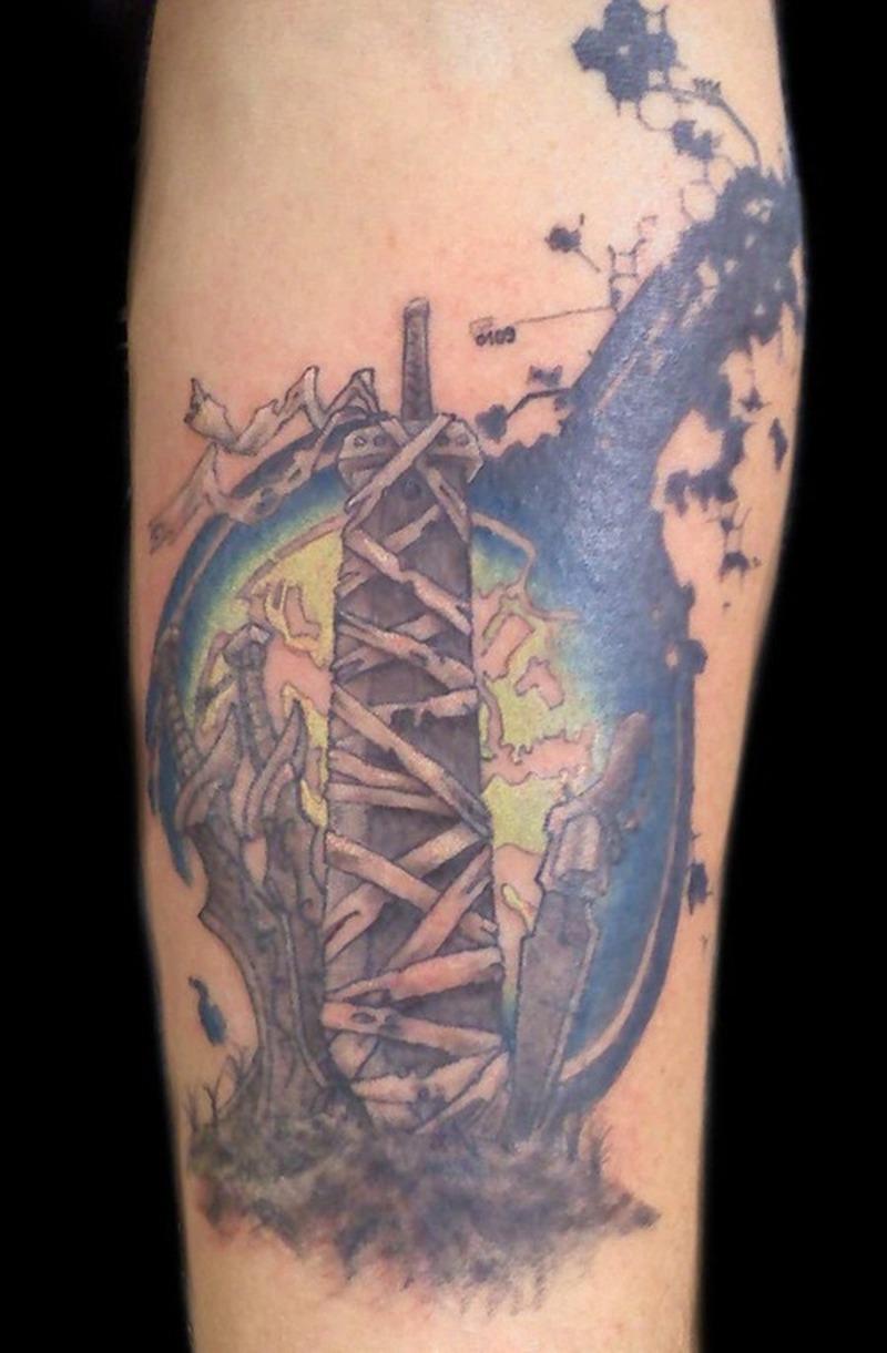 Cool fantasy design tattoo