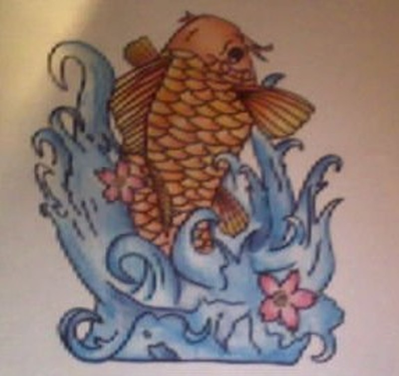 Cool fish tattoo design