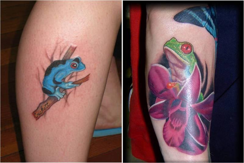 Cool frog tattoo designs