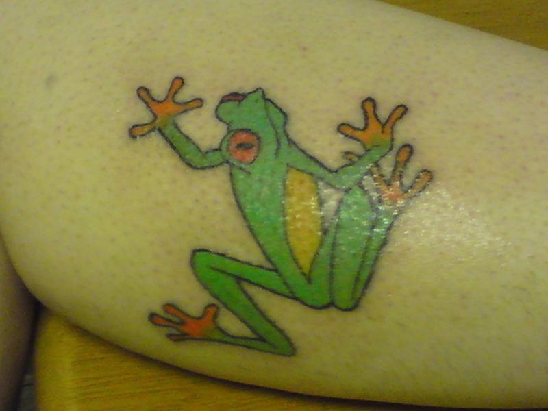 Cool frog tattoo