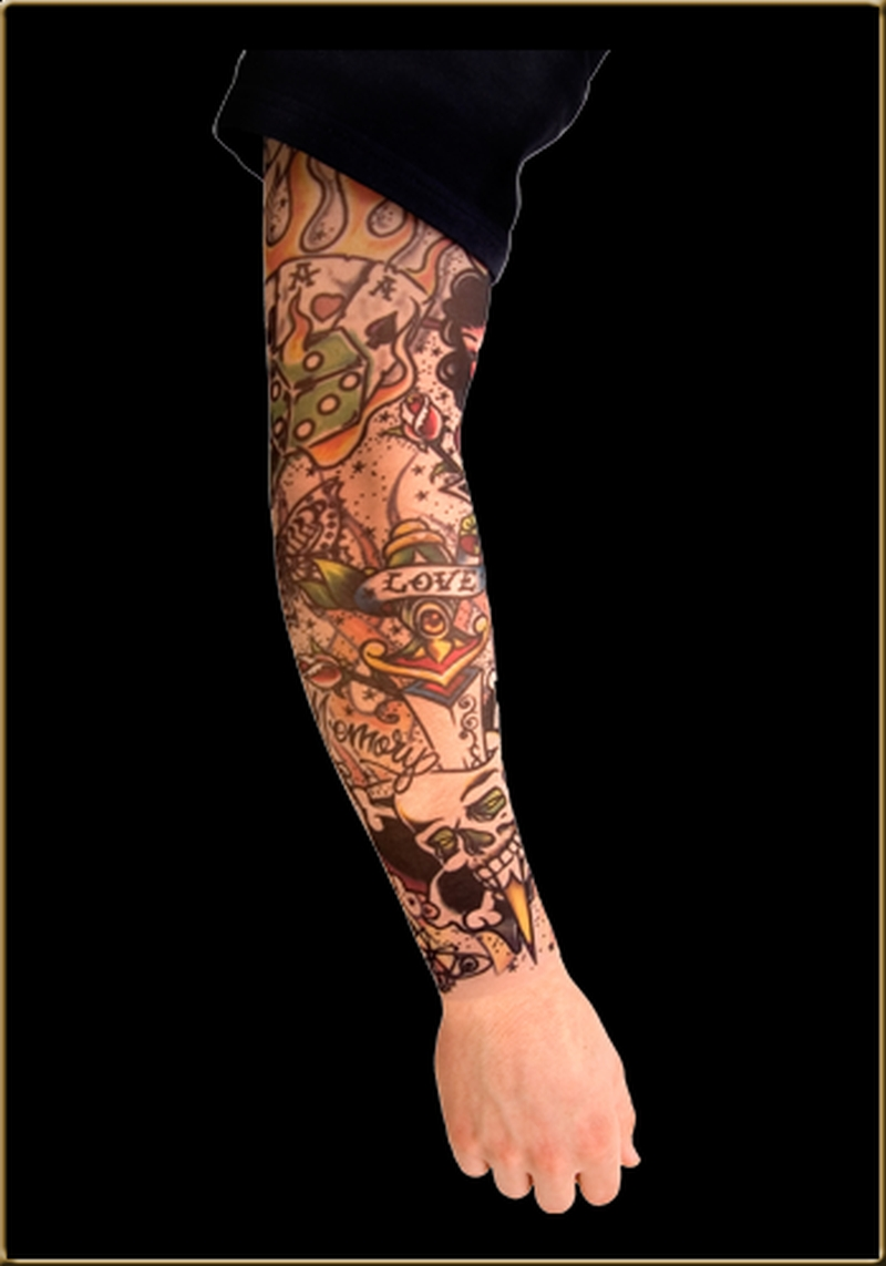 cool gambling tattoo on sleeve tattoos book tattoos designs. Black Bedroom Furniture Sets. Home Design Ideas