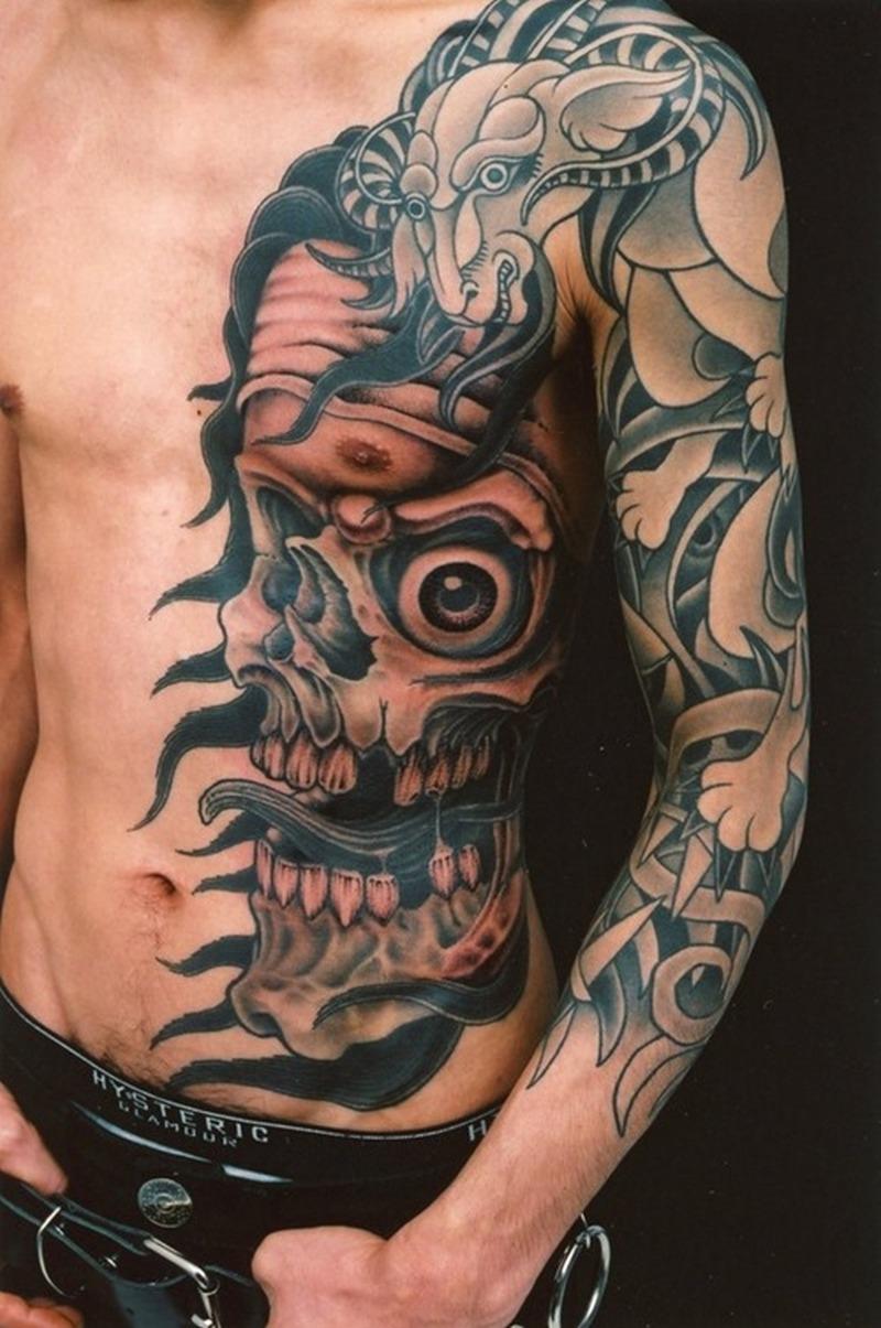 Cool genko horror tattoo design