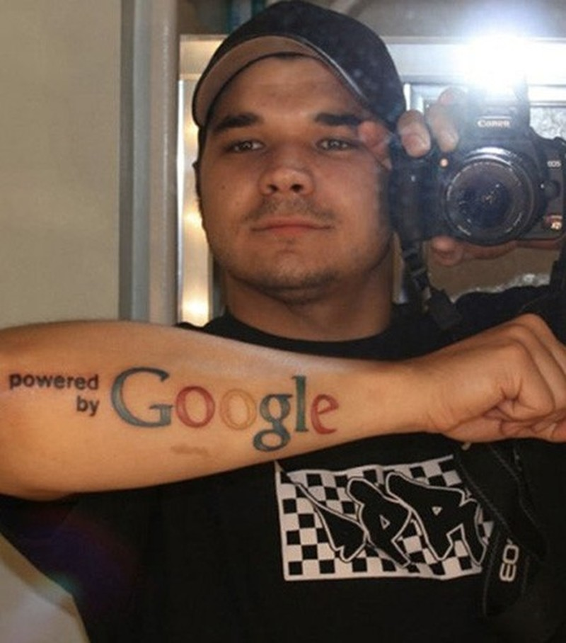 Cool Google Symbol Geek Forearm Tattoo Tattoos Book 65000