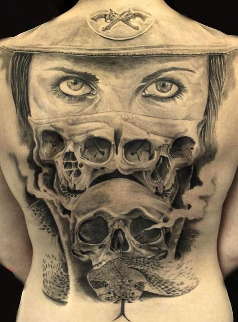 Cool Idea Of Skull Tatttoo On Back Tattoo Tattoos Book