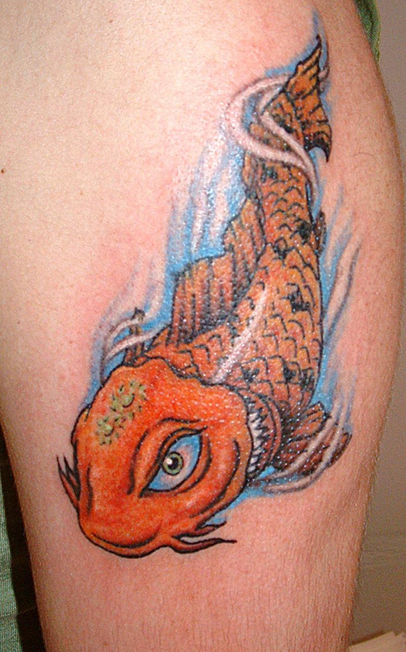 Cool koi fish tattoo