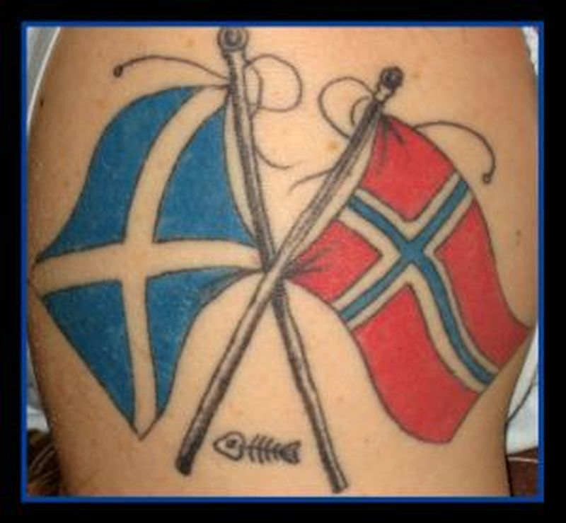 Country flags tattoo image