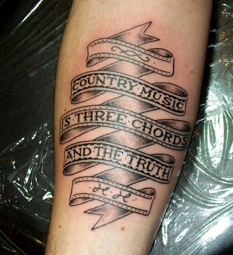 Country music tattoo design