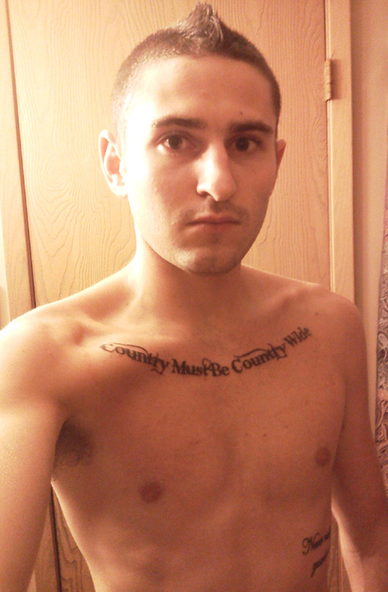 Country must be country wide tattoo on collarbones