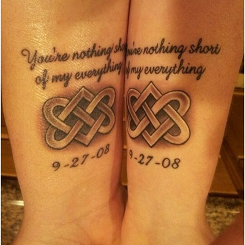 Couple celtic tattoo