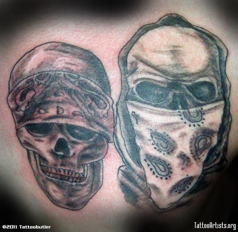 cowboy bandana skulls tattoo design tattoos book 65