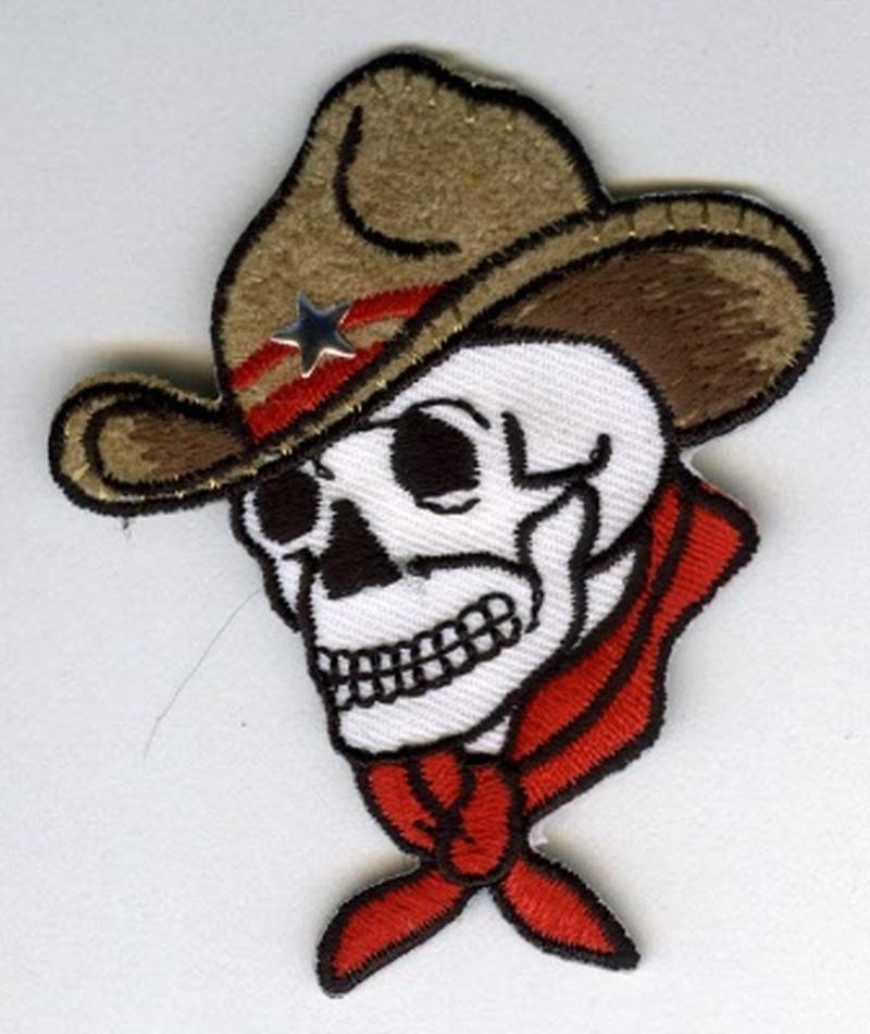 Cowboy skull tattoo sample