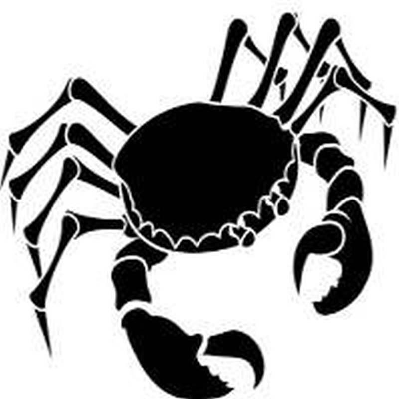 Crab cancer sign tattoo design