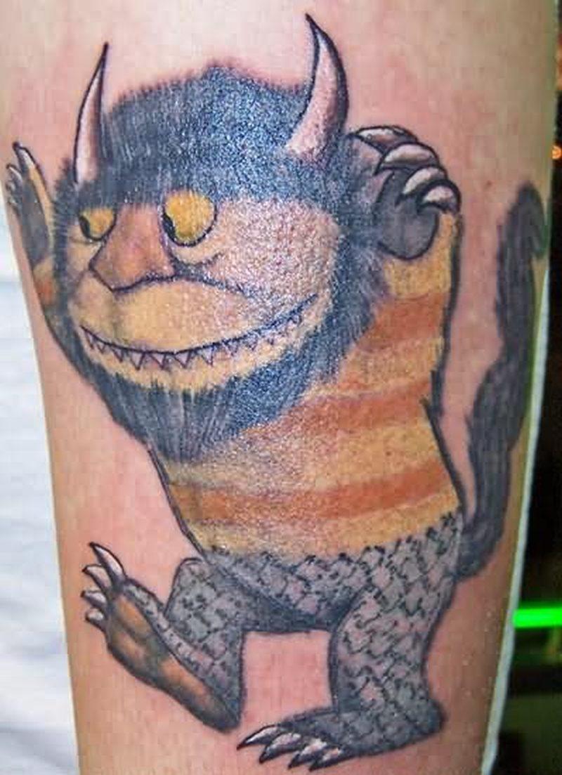 Creature wildthing fantasy design tattoo