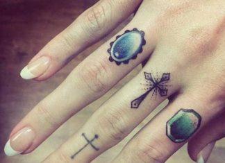 6bf76a5fd Cross tattoo designs on fingers