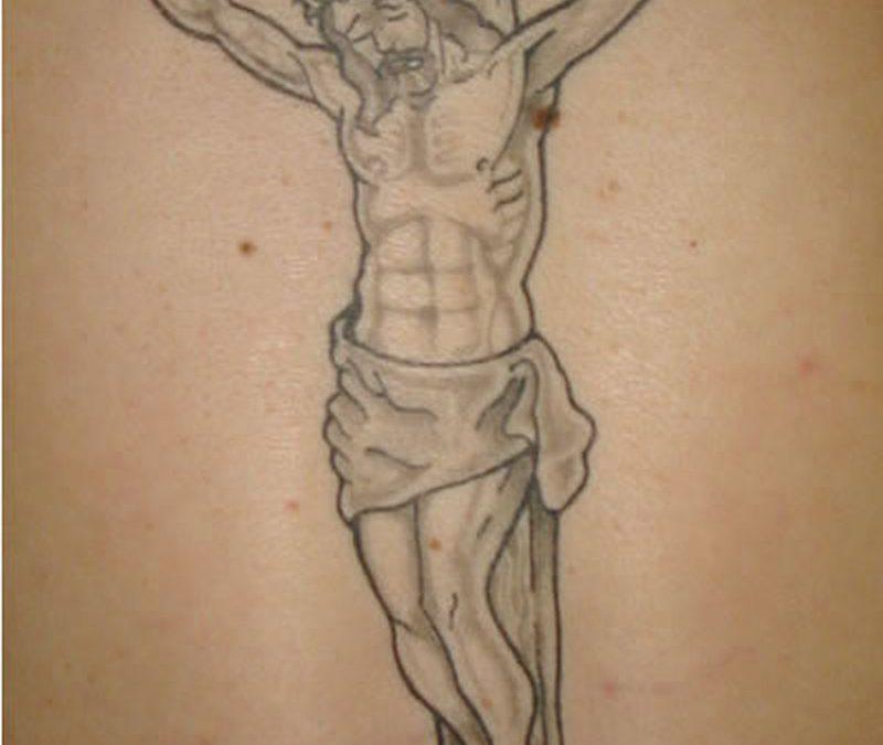 Cross with jesus tattoo design