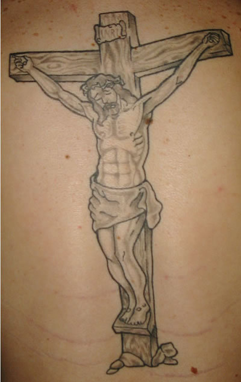 cross with jesus tattoo design tattoos book tattoos designs. Black Bedroom Furniture Sets. Home Design Ideas