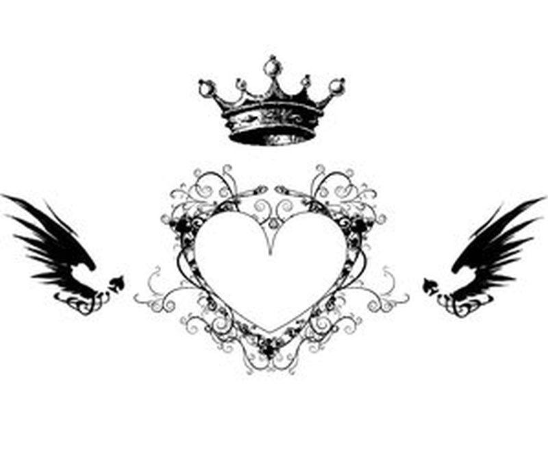 crown n heart tattoo design tattoos book. Black Bedroom Furniture Sets. Home Design Ideas