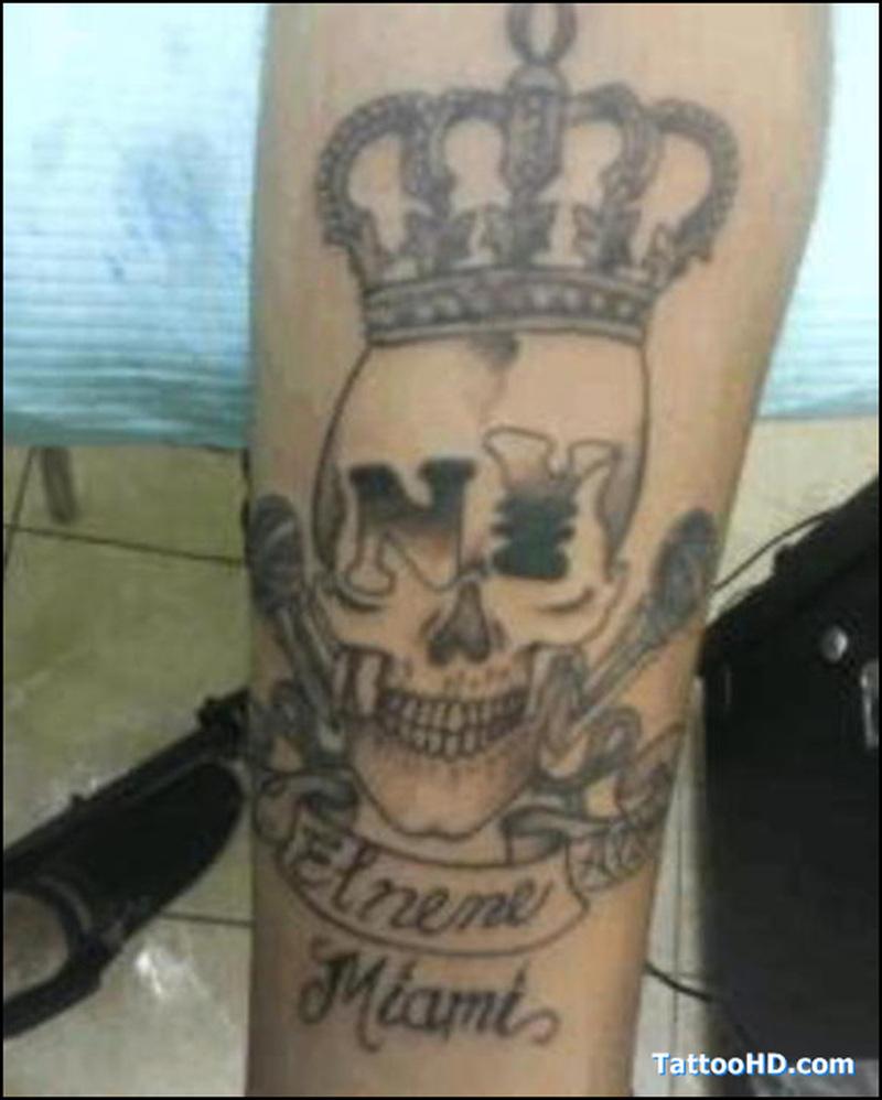 Crown n skull tattoo design 2