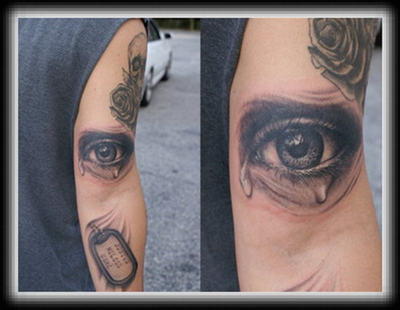 Crying eye tattoo picture