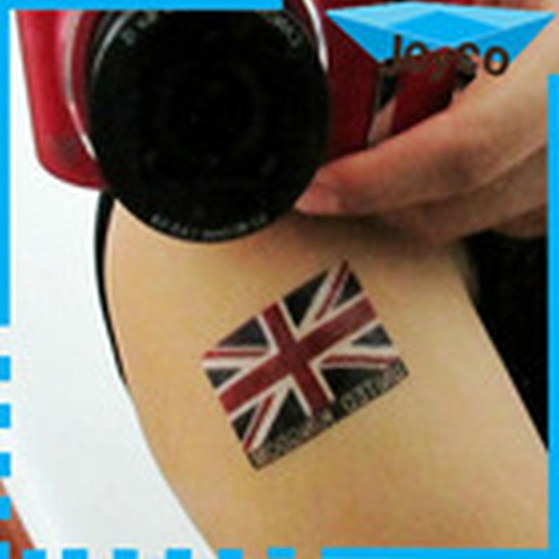 Custom country flag tattoo design