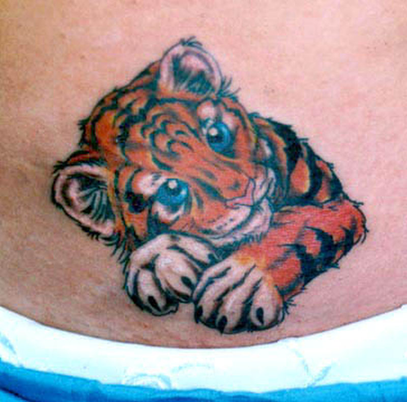 Cute baby tiger tattoo tattoos book tattoos designs for Baby s first tattoo book