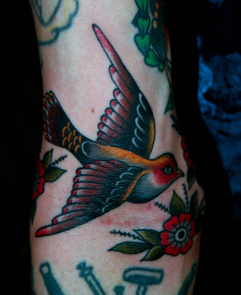 Cute bird tattoo 2