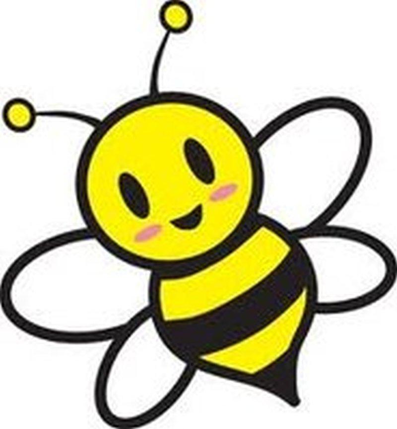 Cute bumblebee tattoo design