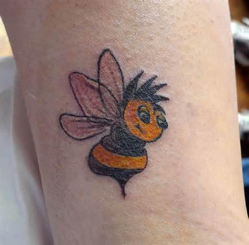 Cute bumblebee tattoo