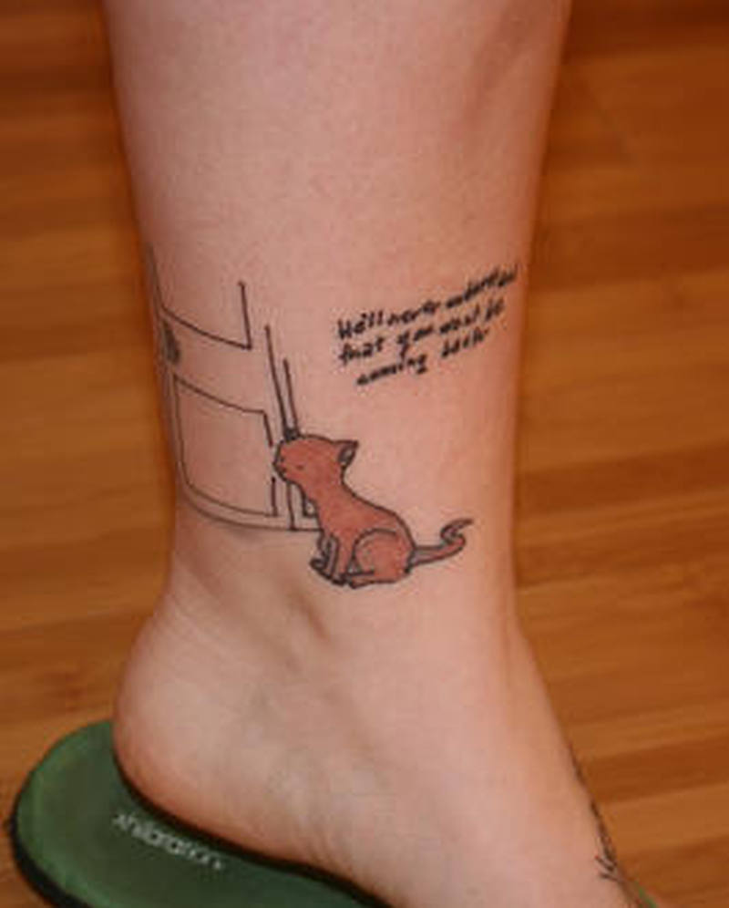 Cute Cat Tattoo Design On Ankle Tattoos Book 65 000 Tattoos Designs
