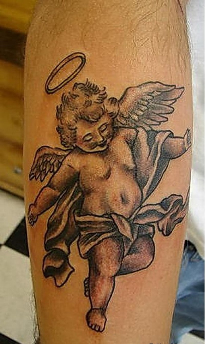 Cute cherub angel tattoo design