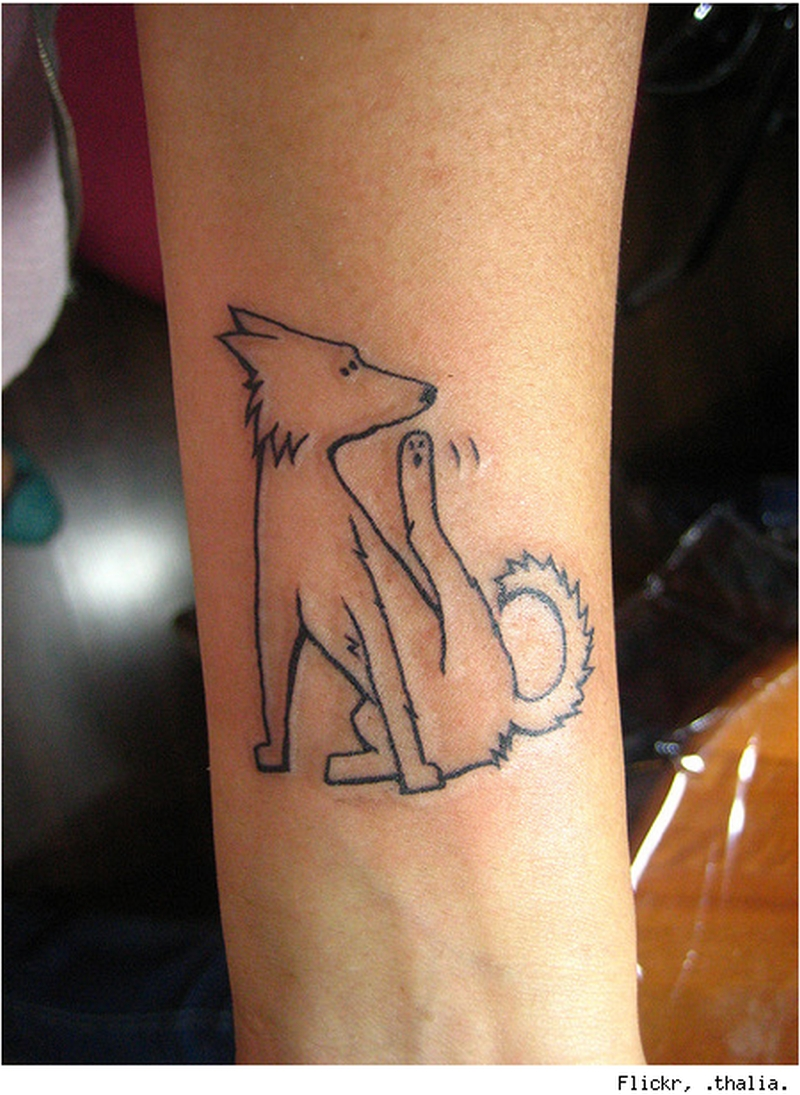 Cute dog tattoo design