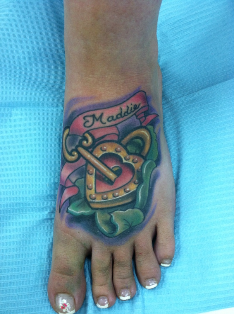 Cute foot tattoo for girls