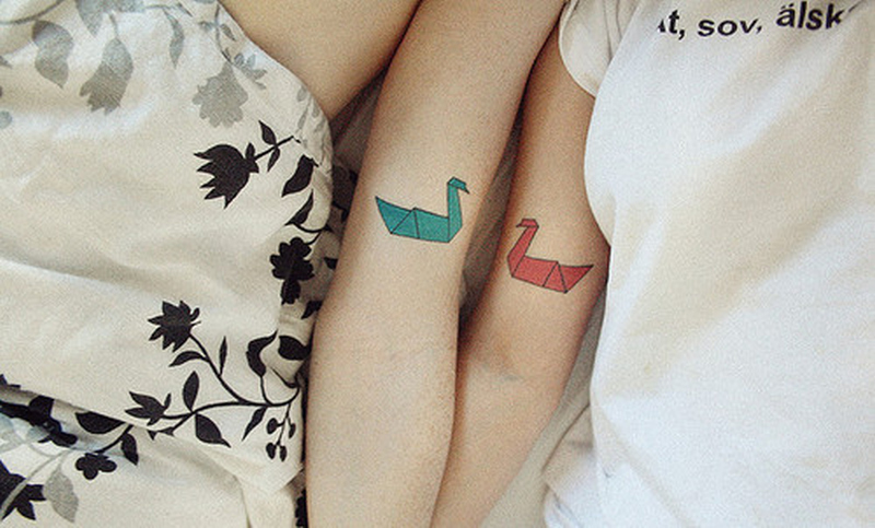 Cute friendship tattoo for girls