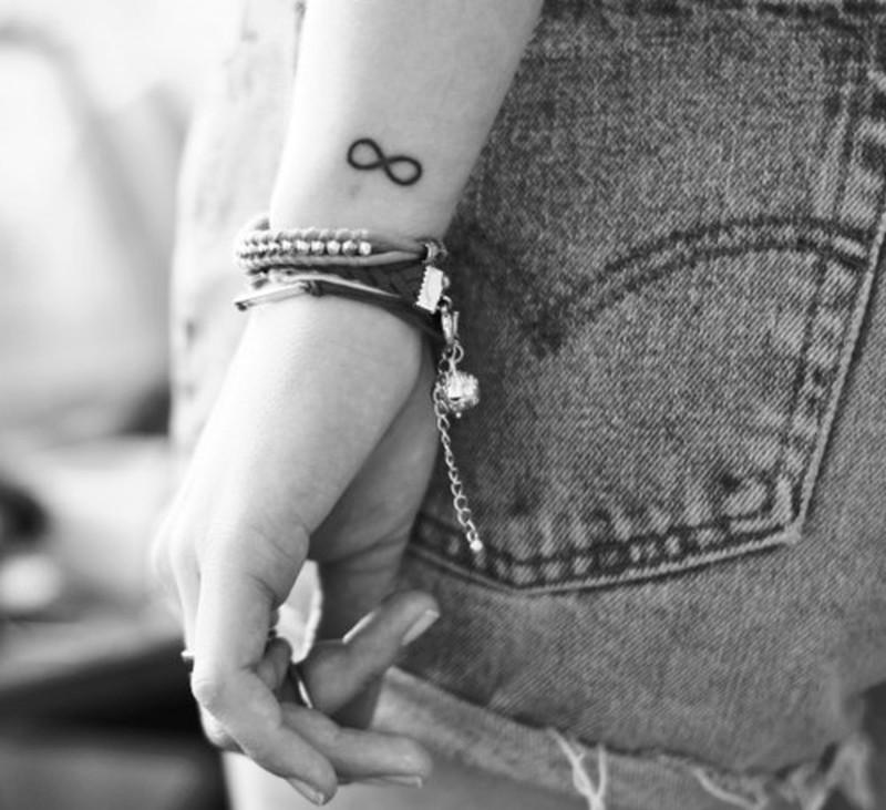 Cute Infinity Symbol Tattoo On Wrist Tattoos Book 65000 Tattoos
