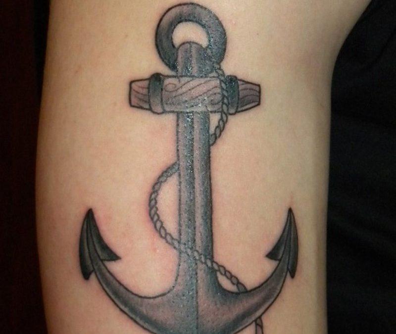 Cute rope anchor tattoo