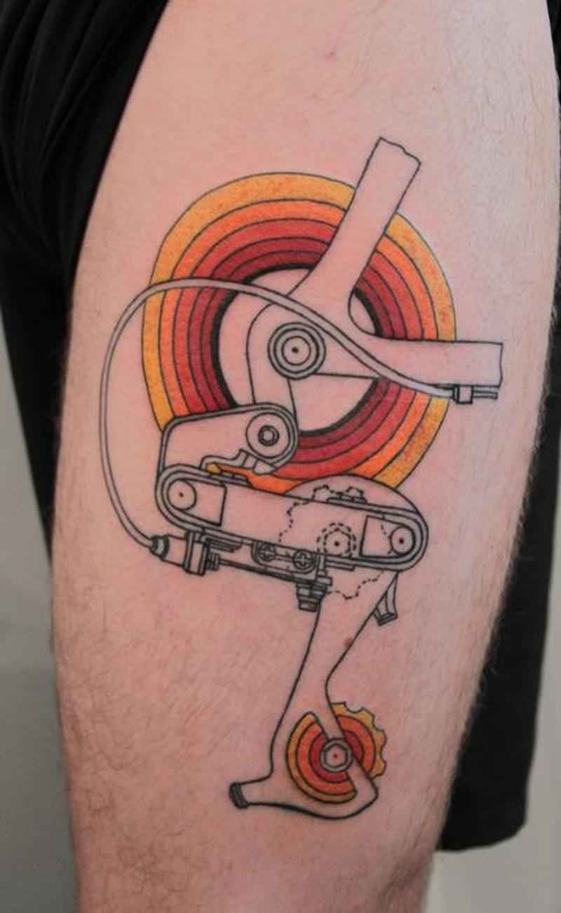 Cycle Gear Tattoo On Biceps Tattoos Book 65 000 Tattoos Designs