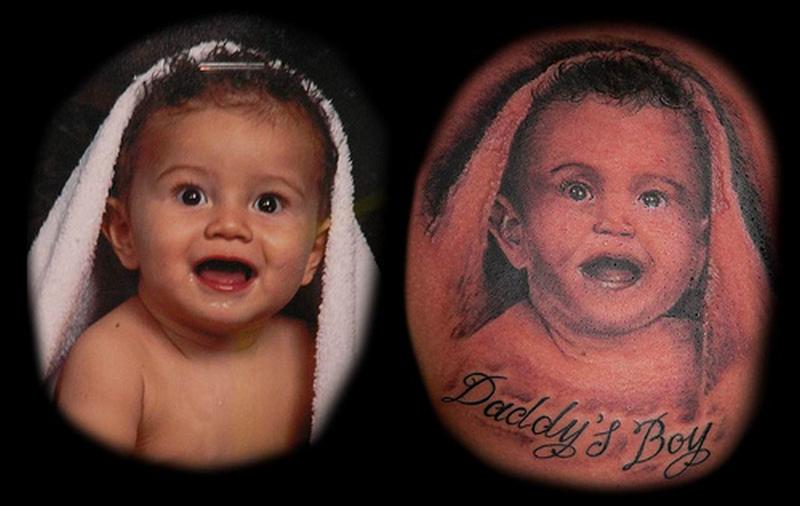 Daddys baby boy tattoo design