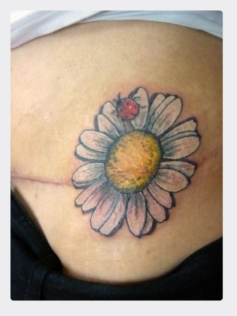 Daisy flower n ladybug tattoo image tattoos book 65000 tattoos daisy flower n ladybug tattoo image izmirmasajfo