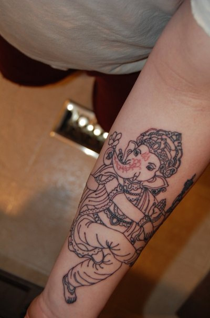 ganesha tattoo forearm - photo #20
