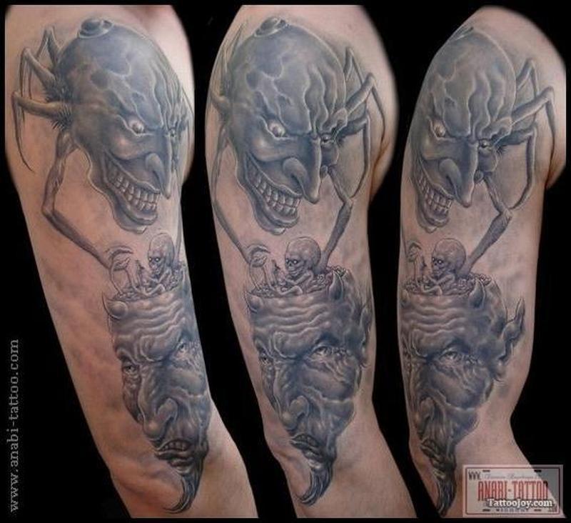 Dark side fantasy design tattoo
