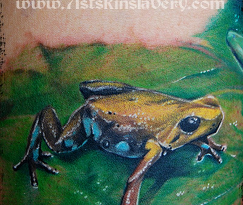 Dart frog tattoo design