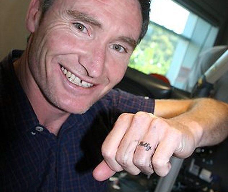 Dave hughes ring finger tattoo design