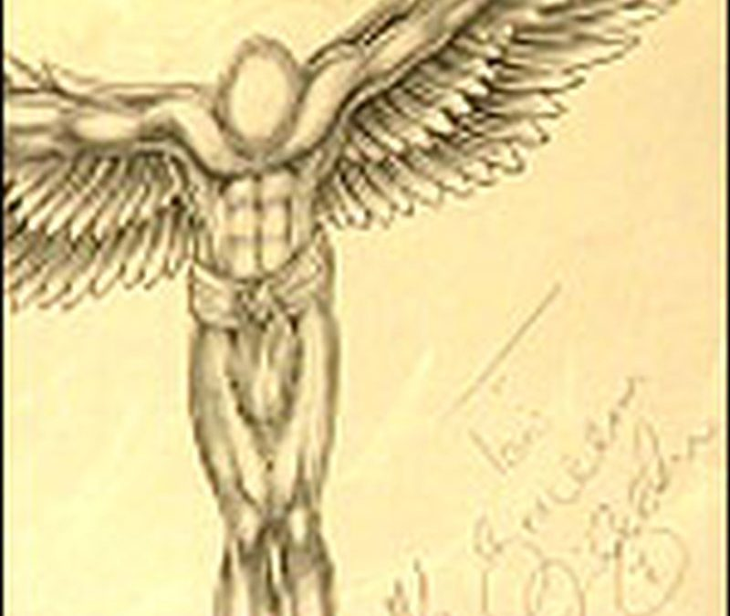 David beckham angel tattoo design