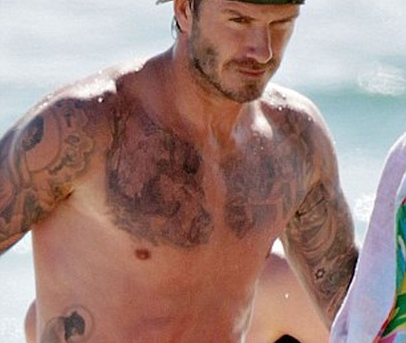 David beckham new chest tattoo design