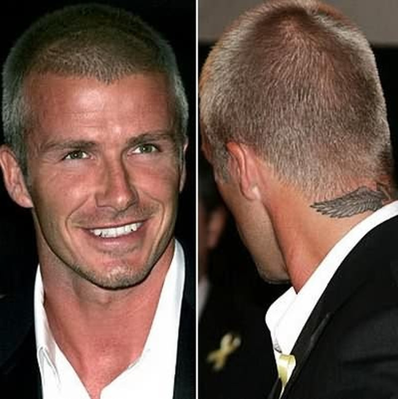 David beckham tattoo on neck back