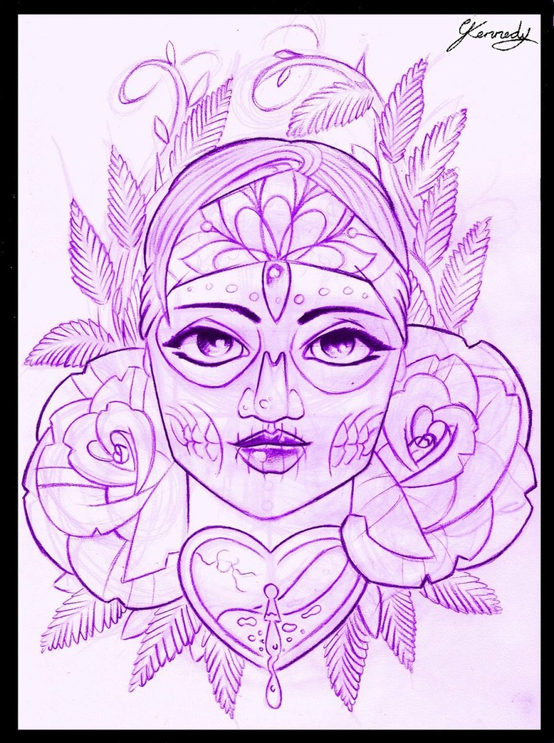 day of the dead gypsy girl tattoo design tattoos book 65 000