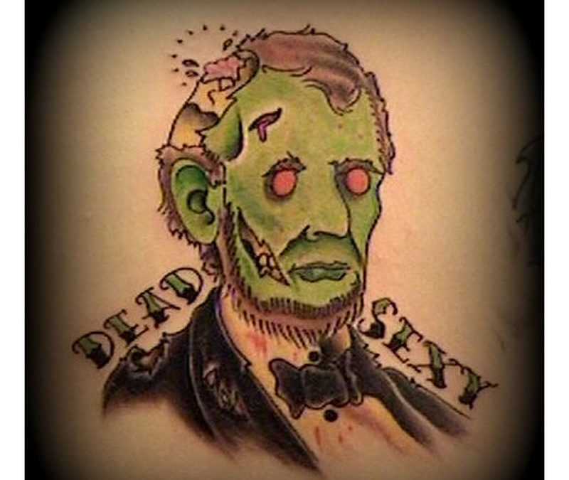 Dead sexy horror tattoo design