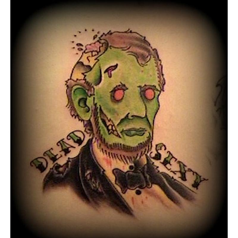 Dead sexy horror tattoo design