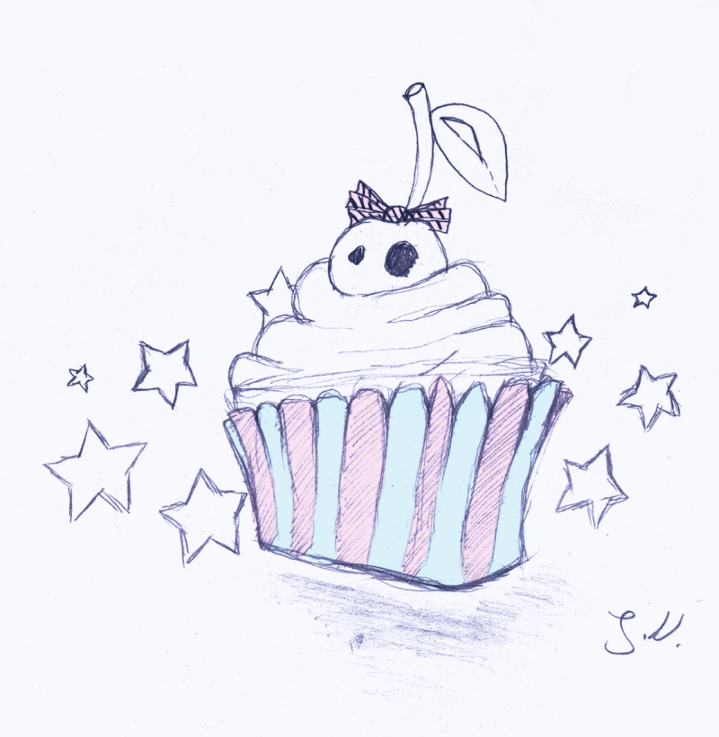 Deadly muffin cake tattoo design